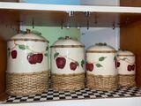 Set of Ceramic Apple Canisters
