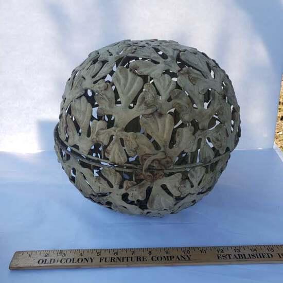 Vintage Decorative Metal Sphere With Latch