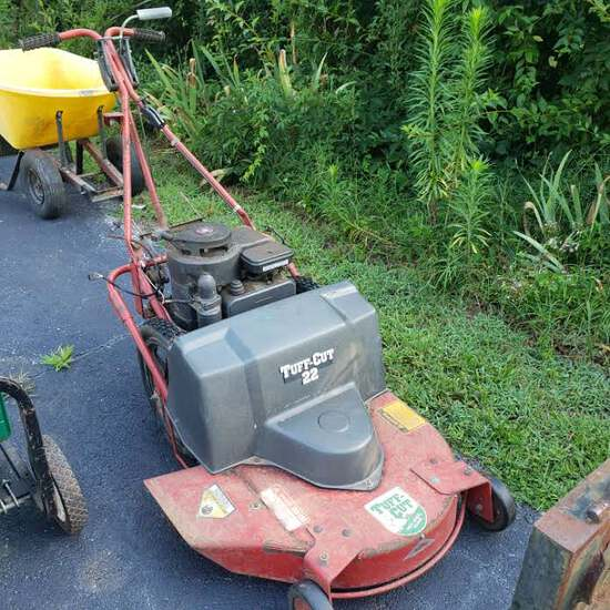 "Garden Way's Tuff Cut Walk Behind 32"" Cut High Wheel Mower"