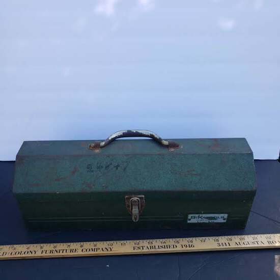 Vintage S-K Tools Chicago, IL Metal Toolbox, Green