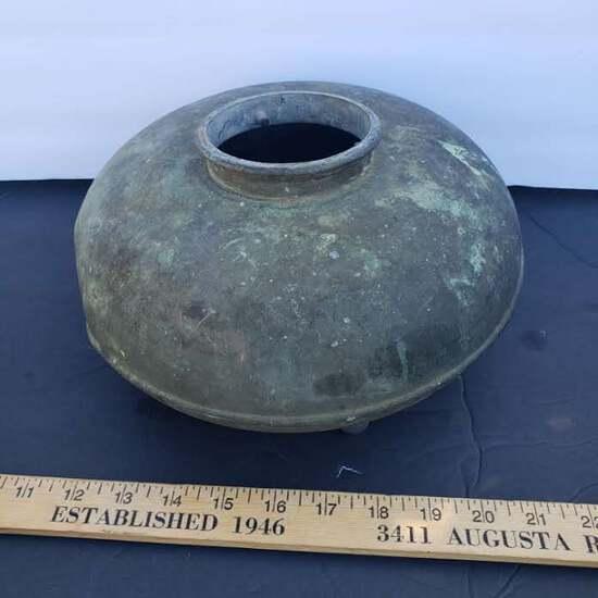 Antique Copper Vessel with 4 Legs