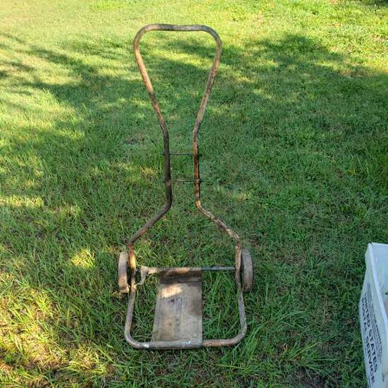 Vintage Rolling Cart with Hard Rubber Wheels with Fenders