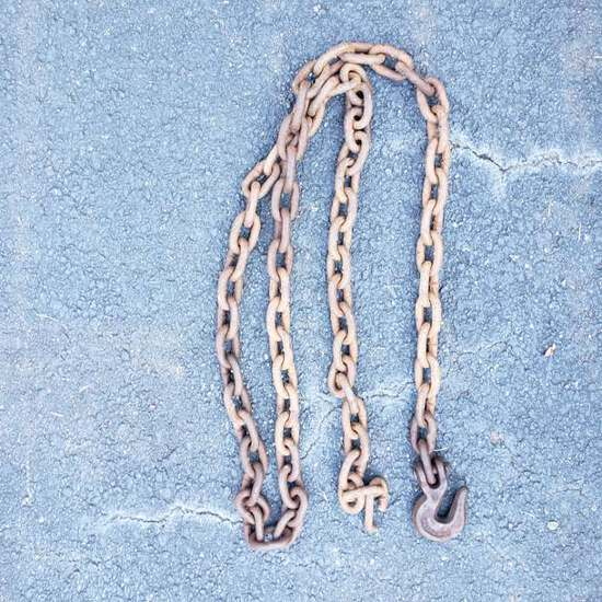 """8 Foot Heavy Duty Chain with 3/8"""" Grab Hook"""