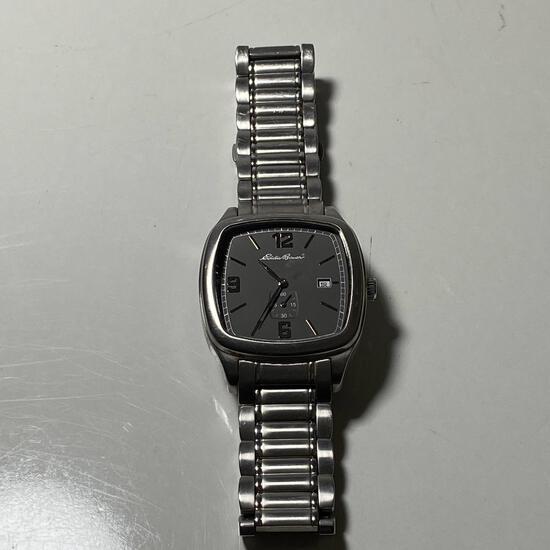 Eddie Bauer Silver Tone Men's Wrist Watch