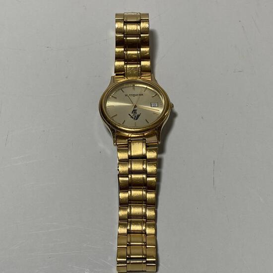 Gold Tone Wittnauer Men's Wrist Watch