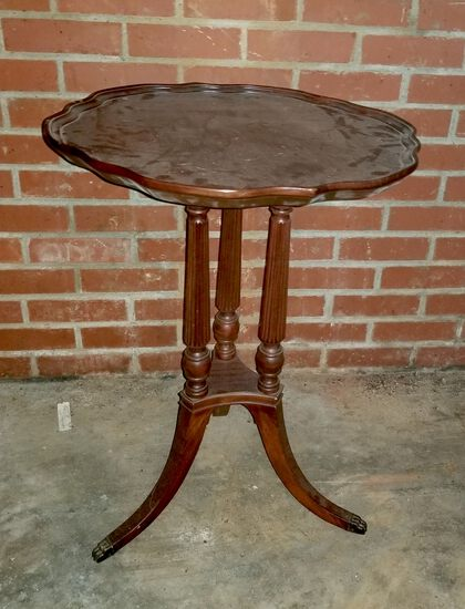 Mahogany Pie Crust Wine Table
