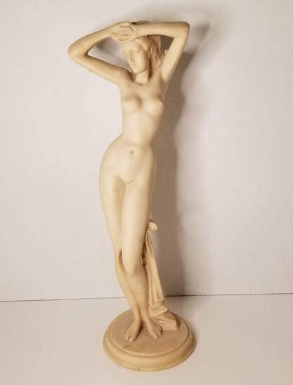 "15"" Naked Woman Art Statue"