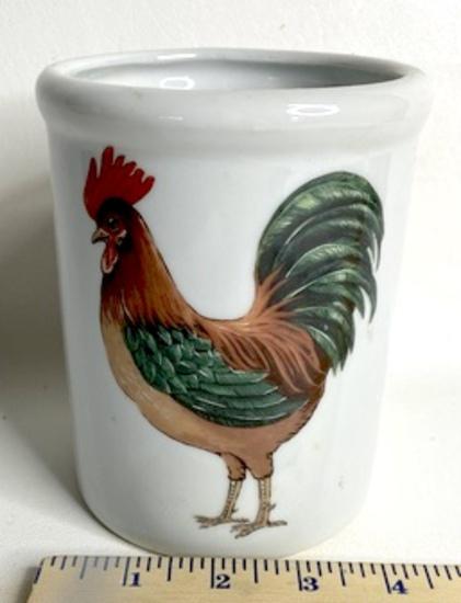 BIA Ceramic Rooster Utensil Crock