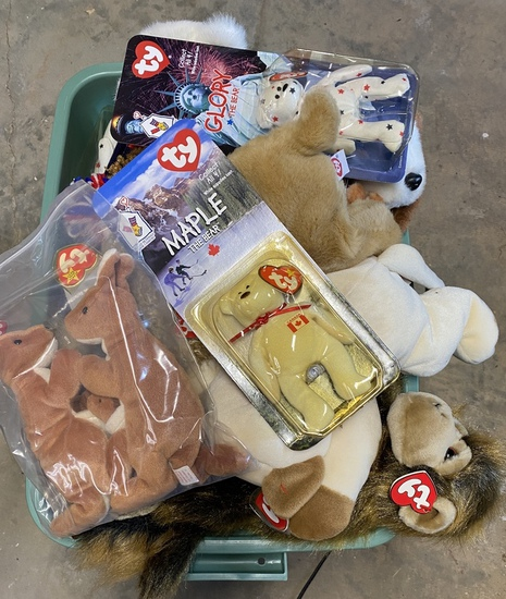 Large Lot of Small, Medium, and Large Beanie Babies