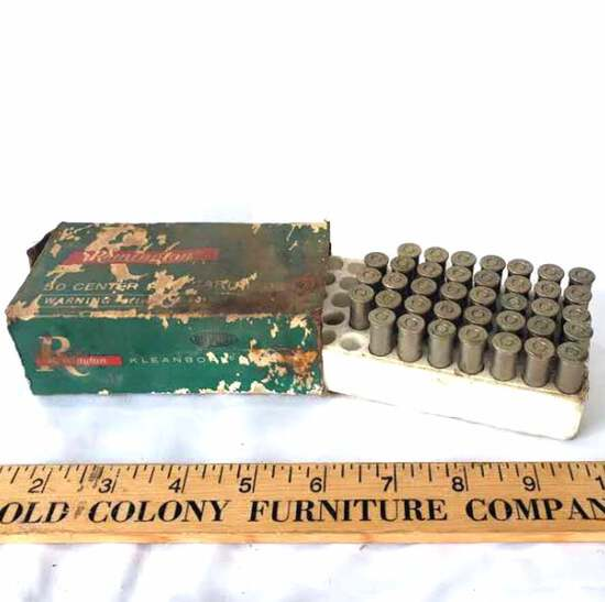 Box of 38 Remington 38 Special Bullets