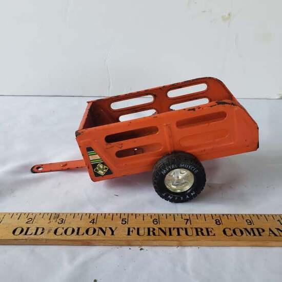 Vintage Nylint Orange Pressed Metal Toy Trailer