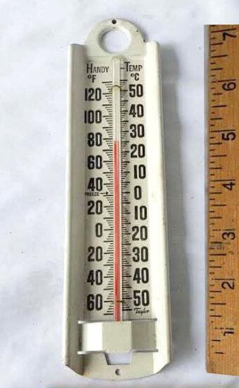 Vintage Taylor Handy Temp Metal Thermometer