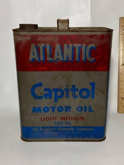 Atlantic Capitol Motor Oil 2 Gallon Advertisement Can