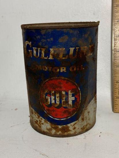 Gulf Motor Oil Advertisement Can