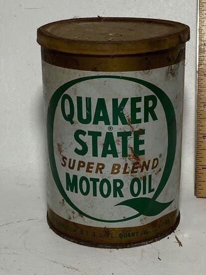 Quaker State Super Blend Motor Oil Advertisement Can