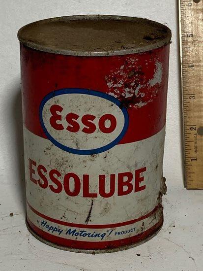 Esso Essolube Oil Advertisement Can