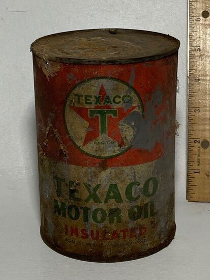 Texaco Motor Oil Advertisement Can