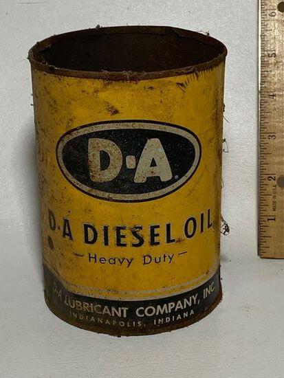 D-A Diesel Oil Advertisement Can