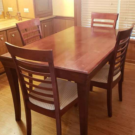 Ashley Furniture Dining Table with 4 Upholstered Chairs