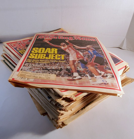 """Large Lot of """"The Sporting News"""""""