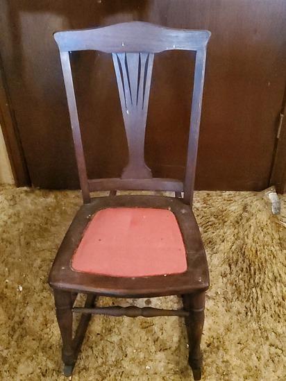 Vintage Wooden Rocking Chair