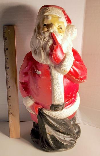 1971 Plastic Light-up Santa Clause Figure