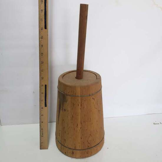 Vintage Wood Butter Churn with Dasher