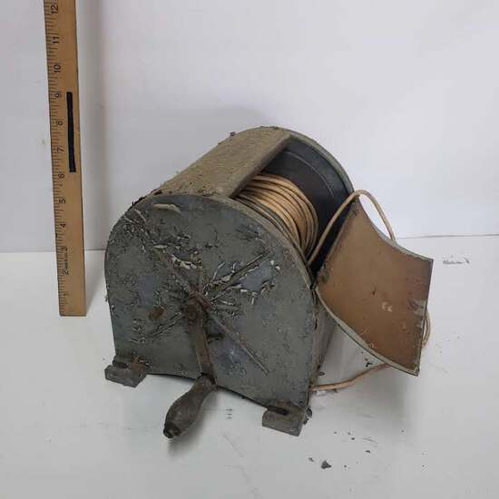 Vintage Hoist Drum Wire Spool
