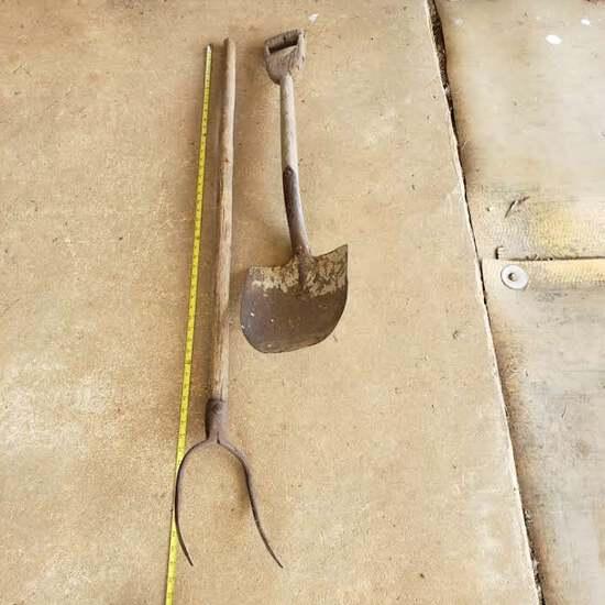 Pair of Antique Garden Tools