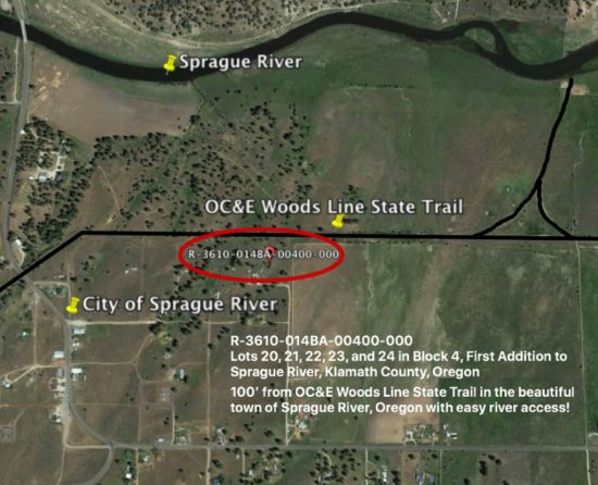 LOT#4 100' FROM OC&E IN SPRAGUE RIVER, OR KLAMATH COUNTY