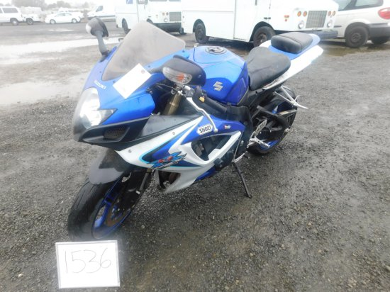 2006 SUZUKI GSXR600 MOTORCYCLE(COURT PAPERS)(DMV BACK FEES=$645+)