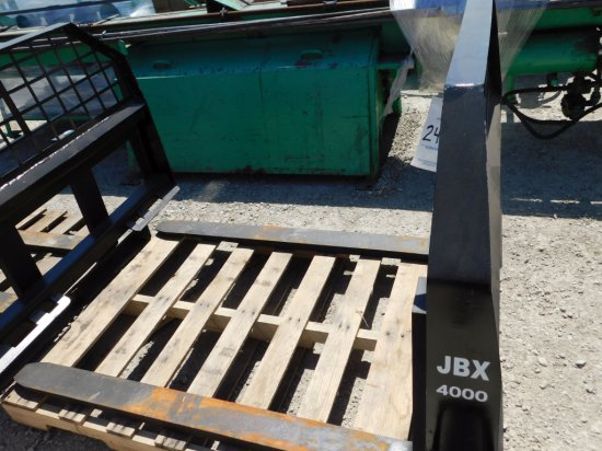 "NEW & UNUSED JBX 4000 48"" SKID STEER FORK ATTACHMENT"