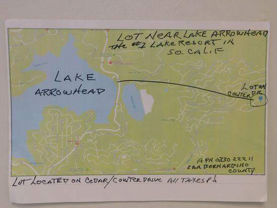 #1 -  LOT NEAR LAKE ARROWHEAD