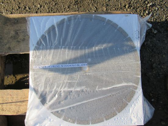 "2018 NEW & UNUSED 3 PC 14"" PREMIUM DIAMOND BLADES"