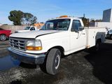 1994 FORD F-350 XL UTILITY PICKUP TRUCK W/ TOOL BOXES
