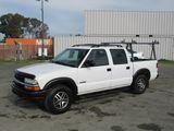 2003 CHEVROLET S10 4X4 PICKUP TRUCK W/ TOOL RACK