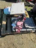 LOT OF CHIPPING GUNS, TILE SAW