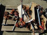 LOT OF PIPE THREAD TOOLS