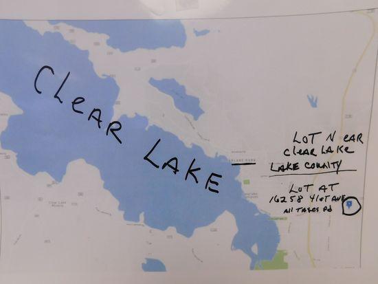 (1) LOT NEAR CLEAR LAKE
