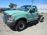 2003 FORD F-250 CAB & CHASSIS PICKUP TRUCK