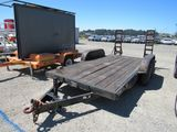 2 AXLE FLATBED EQUIPMENT TRAILER W/ RAMPS