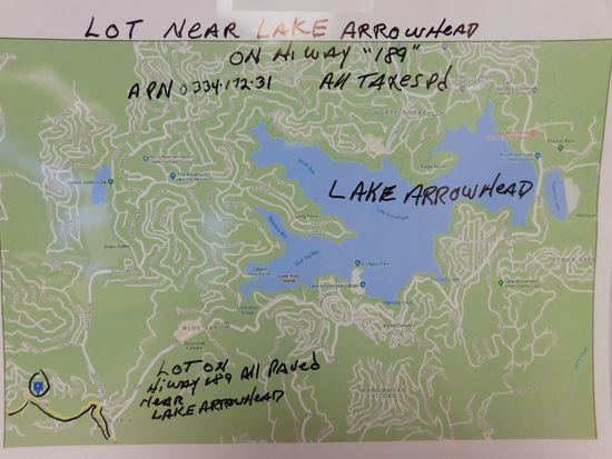 LOT NEAR LAKE ARROWHEAD