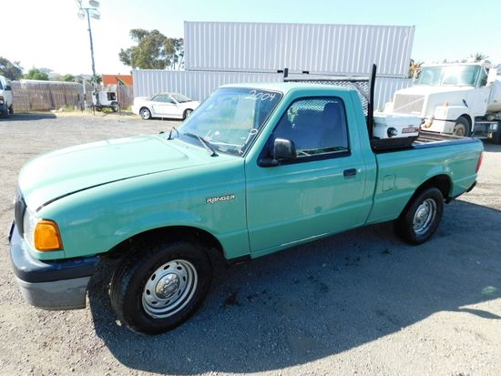 2004 FORD RANGER PICKUP TRUCK W/ TOOL BOX