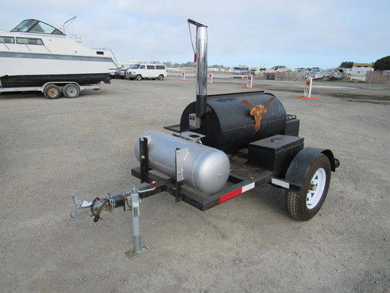 NEW CUSTOM BUILT TOWABLE BARBECUE/ SMOKER