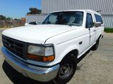 1992 FORD F-150 PICKUP TRUCK W/ PICKUP BED COVER (SALVAGE)