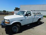 1996 FORD F-250 PICKUP TRUCK W/ UTILITY BOXES & LIFTGATE