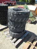 (4) SOLID RUBBER SKID STEER TIRES