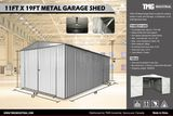 NEW & UNUSED 11' X 19' METAL SHED/GARAGE