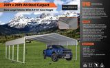 NEW & UNUSED 20' X 20' ALL STEEL CARPORT