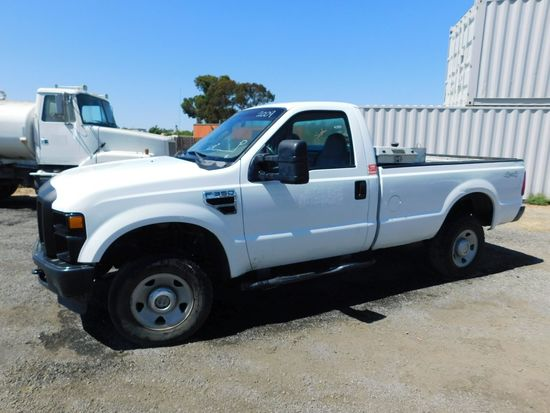 2009 FORD F-350 4X4 PICKUP TRUCK W/ FUEL TANK & TOOL BOX